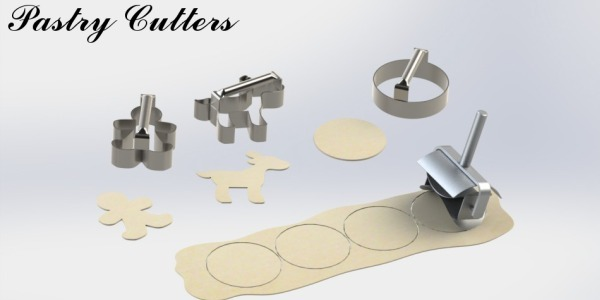 A selection of commercial pastry cutters